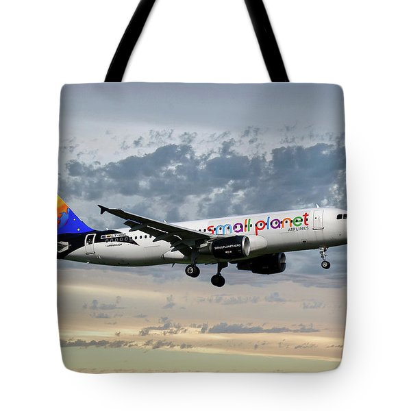 Small Planet Airlines Airbus A320-214 Tote Bag