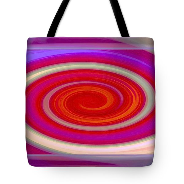Small Red Swirl Tote Bag