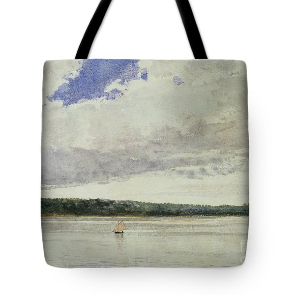 Small Sloop On Saco Bay Tote Bag by Winslow Homer