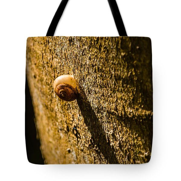 Small Snail On The Tree Tote Bag