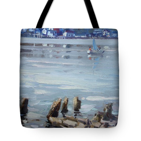 Small Town Across Niagara River Tote Bag