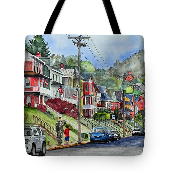 Small Town, America Tote Bag