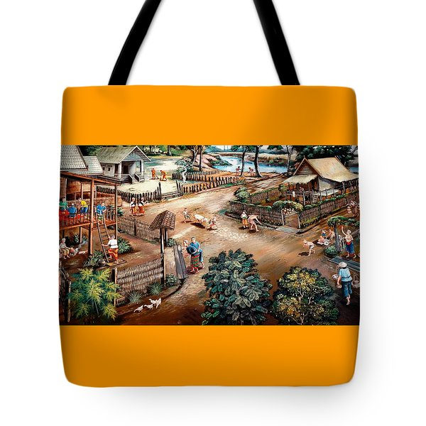 Small Town Community Tote Bag by Ian Gledhill