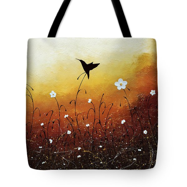 Tote Bag featuring the painting Small Treasure by Carmen Guedez