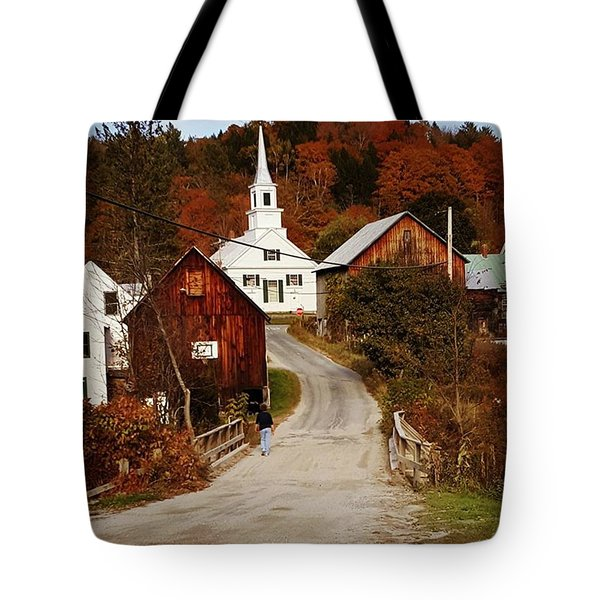 Small Vermont Village Church #classic Tote Bag