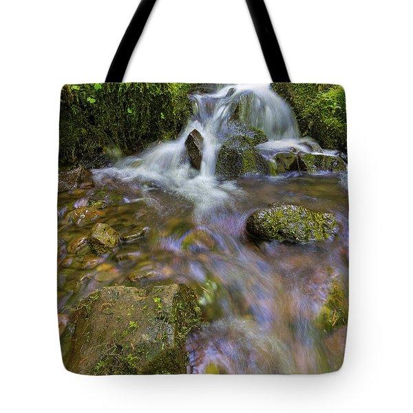 Small Waterfalls Along Wahkeena Creek Tote Bag