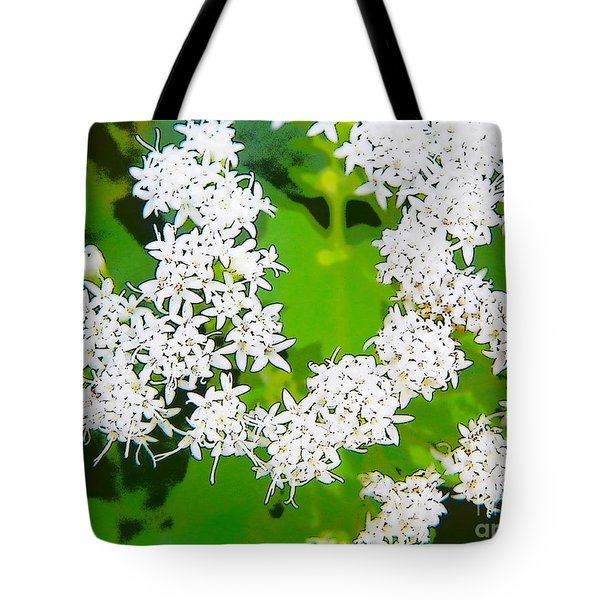 Small White Flowers Tote Bag by Craig Walters