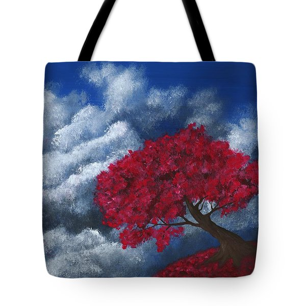 Tote Bag featuring the painting Small World by Anastasiya Malakhova