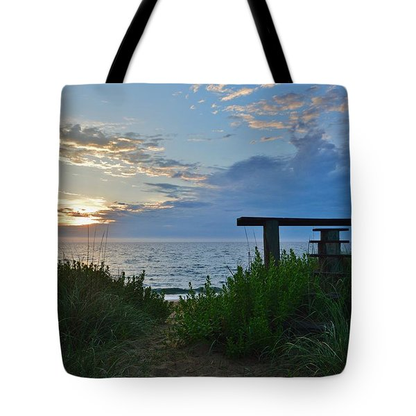 Small World Sunrise   Tote Bag