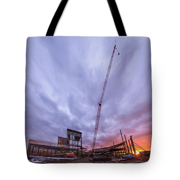 Smart Financial Centre Construction Sunset Sugar Land Texas 10 26 2015 Tote Bag