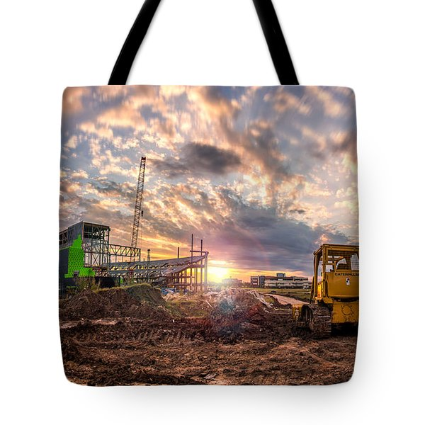 Smart Financial Centre Construction Sunset Sugar Land Texas 11 21 2015 Tote Bag