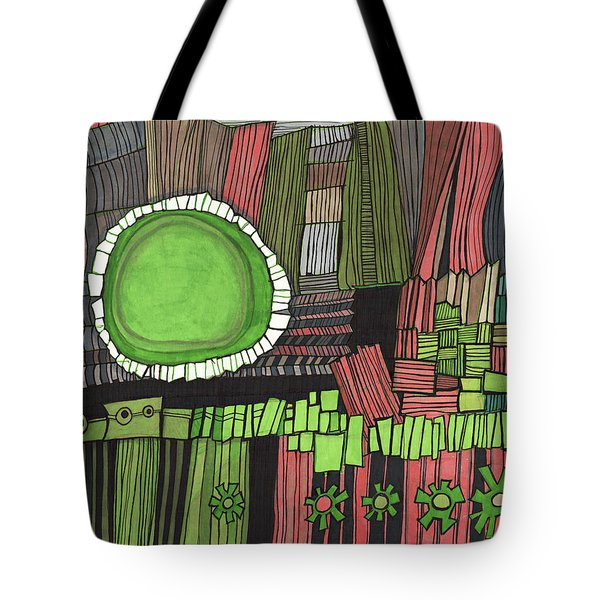 Sun Gone Green Tote Bag