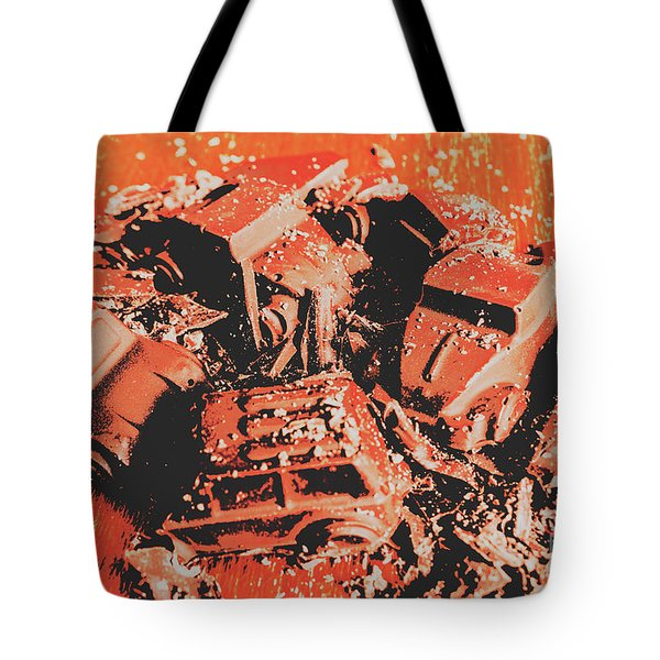 Smashem Crashem Cars Tote Bag