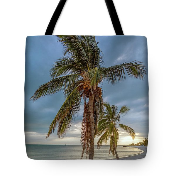 Smathers Beach Coconut Sunset Tote Bag