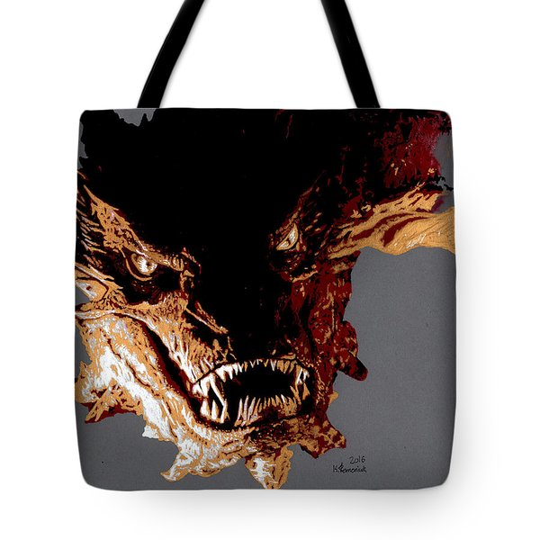 Smaug The Terrible Tote Bag by Kayleigh Semeniuk