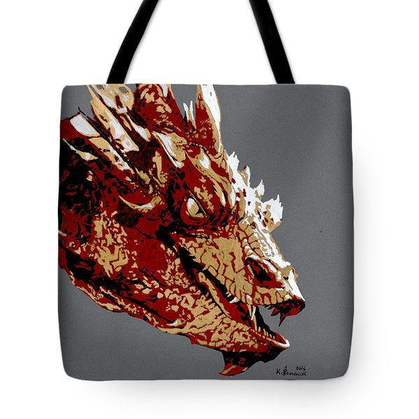 Smaug The Unassessably Wealthy Tote Bag by Kayleigh Semeniuk