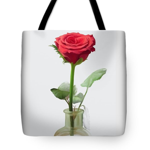 Tote Bag featuring the painting Smell The Rose by Ivana Westin