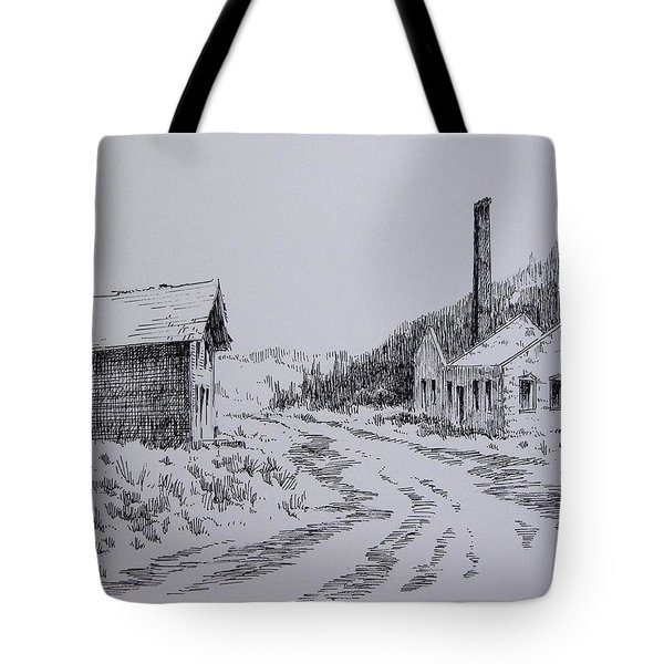 Smelter Ruins Glendale Ghost Town Montana Tote Bag by Kevin Heaney
