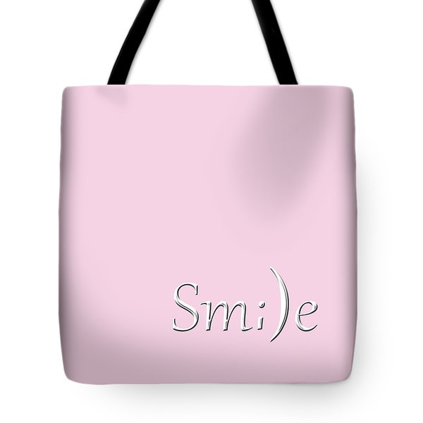 Smile Tote Bag by Cherie Duran