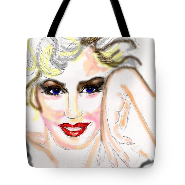 Smile For Me Marilyn Tote Bag by Desline Vitto