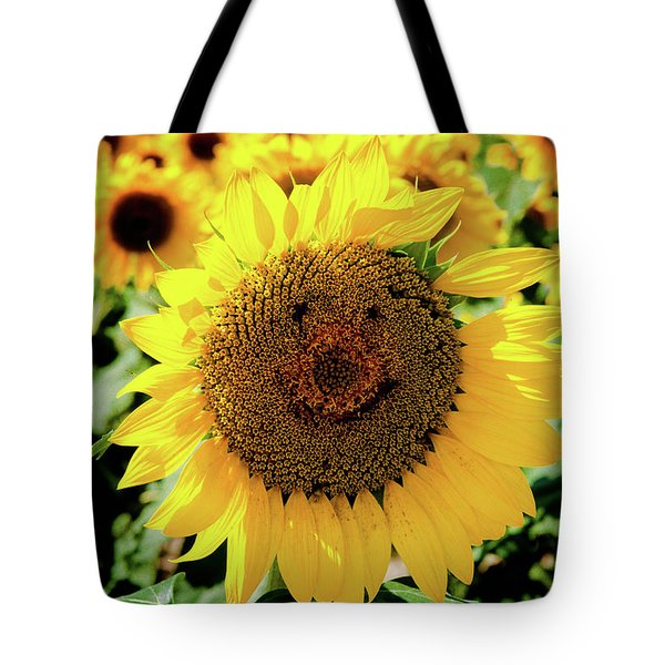 Tote Bag featuring the photograph Smile by Greg Fortier