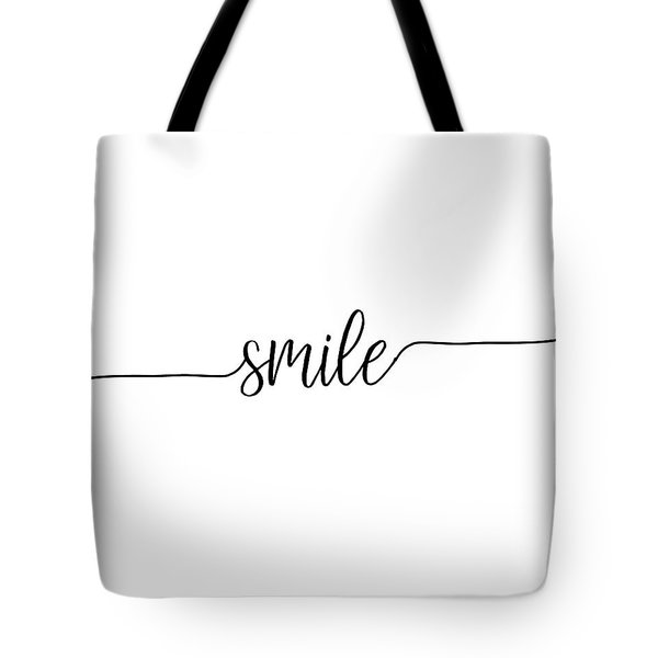 Tote Bag featuring the digital art Smile by Jaime Friedman