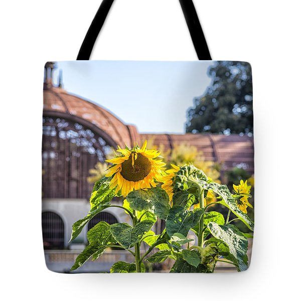 Sunflower Smile Tote Bag by Joseph S Giacalone