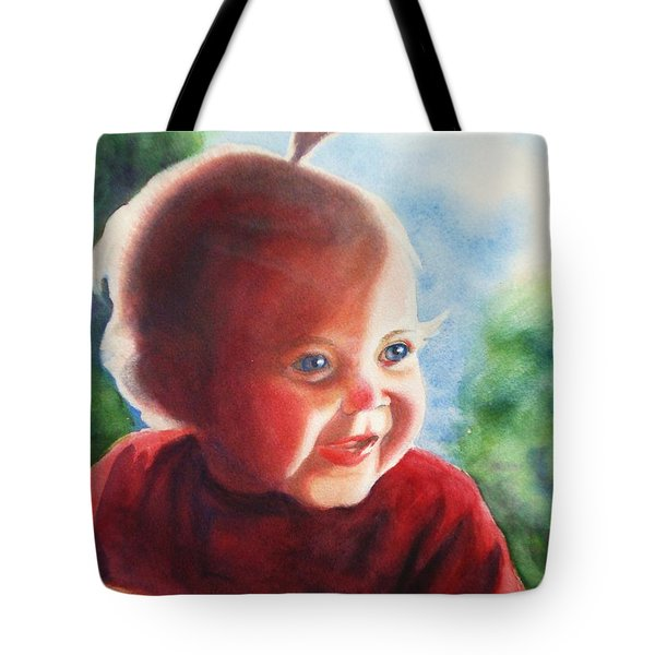 Smile Tote Bag by Marilyn Jacobson