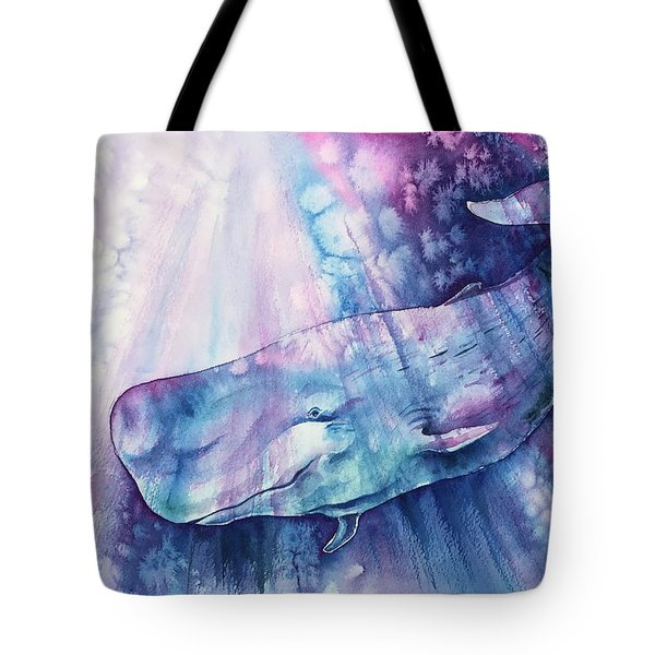 Tote Bag featuring the painting Smile Of Cachalot by Zaira Dzhaubaeva