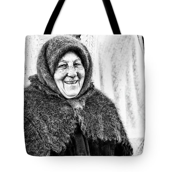 Tote Bag featuring the photograph Smiler by John Williams