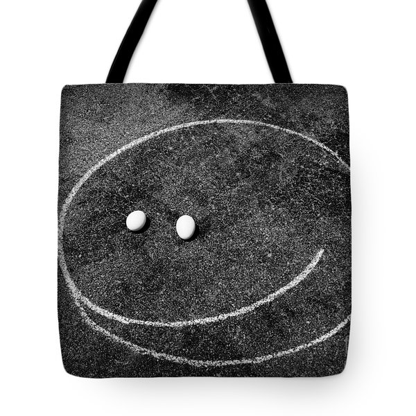 Smiley - Chalk N Eggs Tote Bag by Aimelle