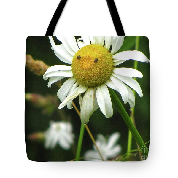 Smiley Face Ox-nose Daisy Tote Bag