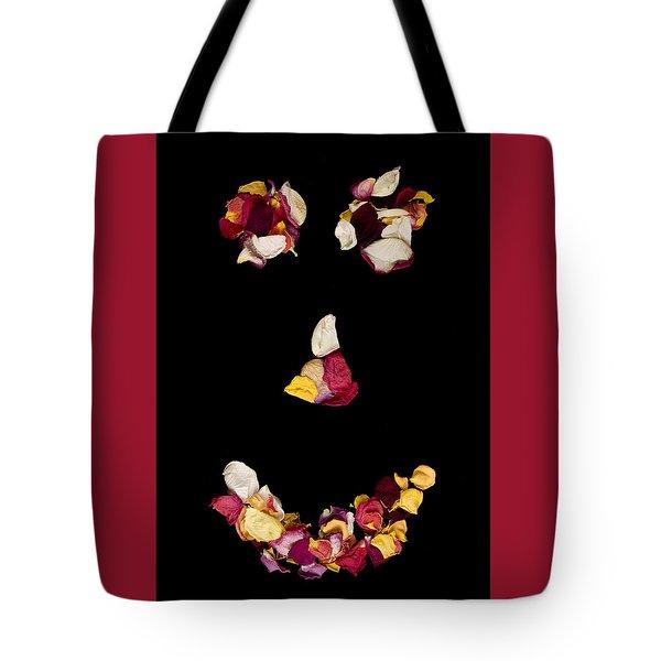 Smiley Rose Tote Bag