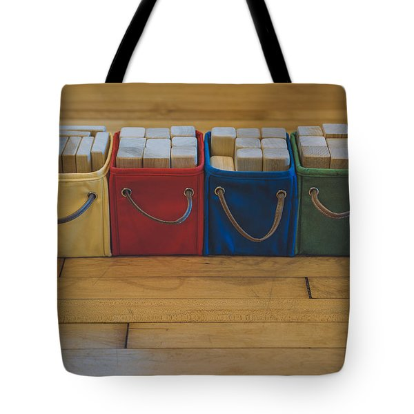 Smiling Block Bins Tote Bag