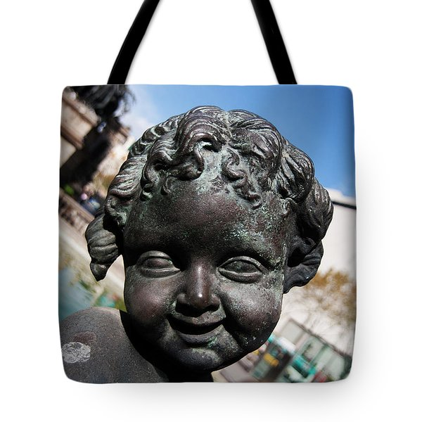 Smiling Cherub Tote Bag