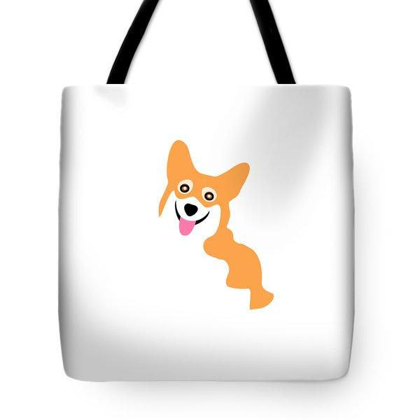 Smiling Corgi Pup Tote Bag
