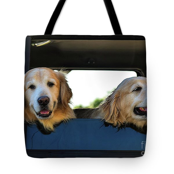 Smiling Dogs Tote Bag