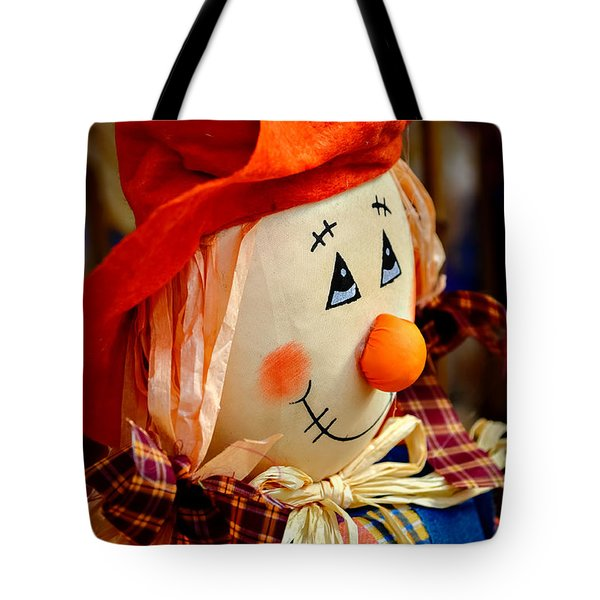 Smiling Face 2 Tote Bag by Julie Palencia