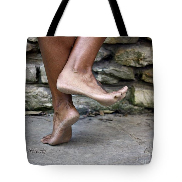 Smiling Feet Tote Bag