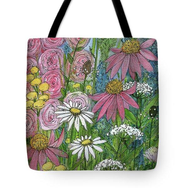 Smiling Flowers Tote Bag