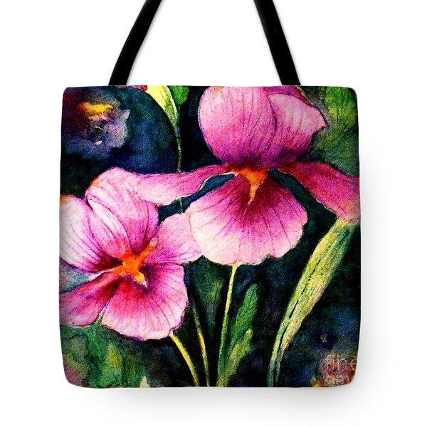 Smiling Iris Faces  Tote Bag