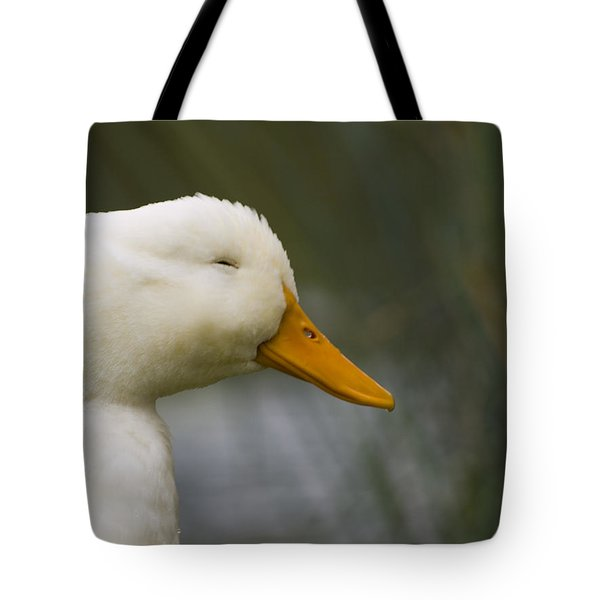 Smiling Pekin Duck Tote Bag