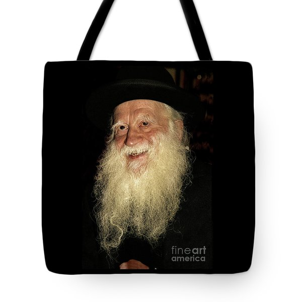 Smiling Picture Of Rabbi Yehuda Zev Segal Tote Bag