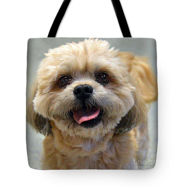 Smiling Shih Tzu Dog Tote Bag by Catherine Sherman