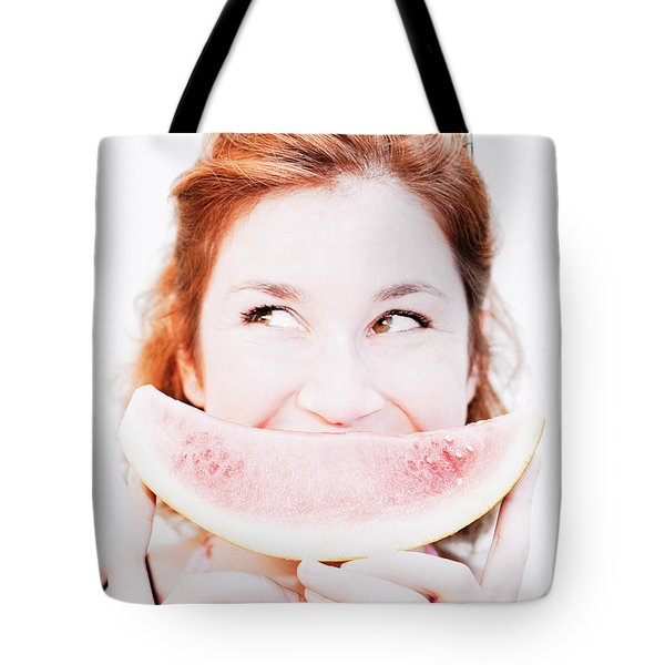 Smiling Summer Snack Tote Bag by Jorgo Photography - Wall Art Gallery