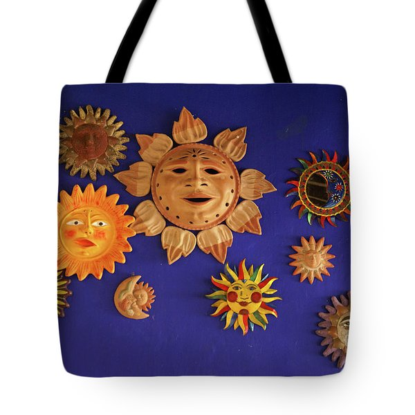 Smiling Suns Or Sols Mexico Tote Bag
