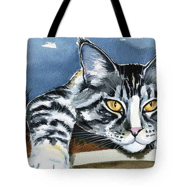 Smilla - Maine Coon Cat Painting Tote Bag