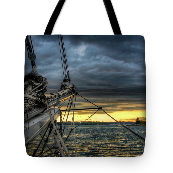 Smith Cove Sunset Tote Bag by Fred LeBlanc