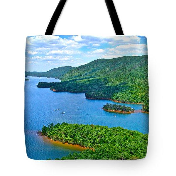 Smith Mountain Lake Poker Run Tote Bag by American Shutterbug Soccity
