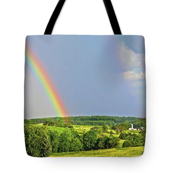 Smith Mountain Lake Rainbow Tote Bag